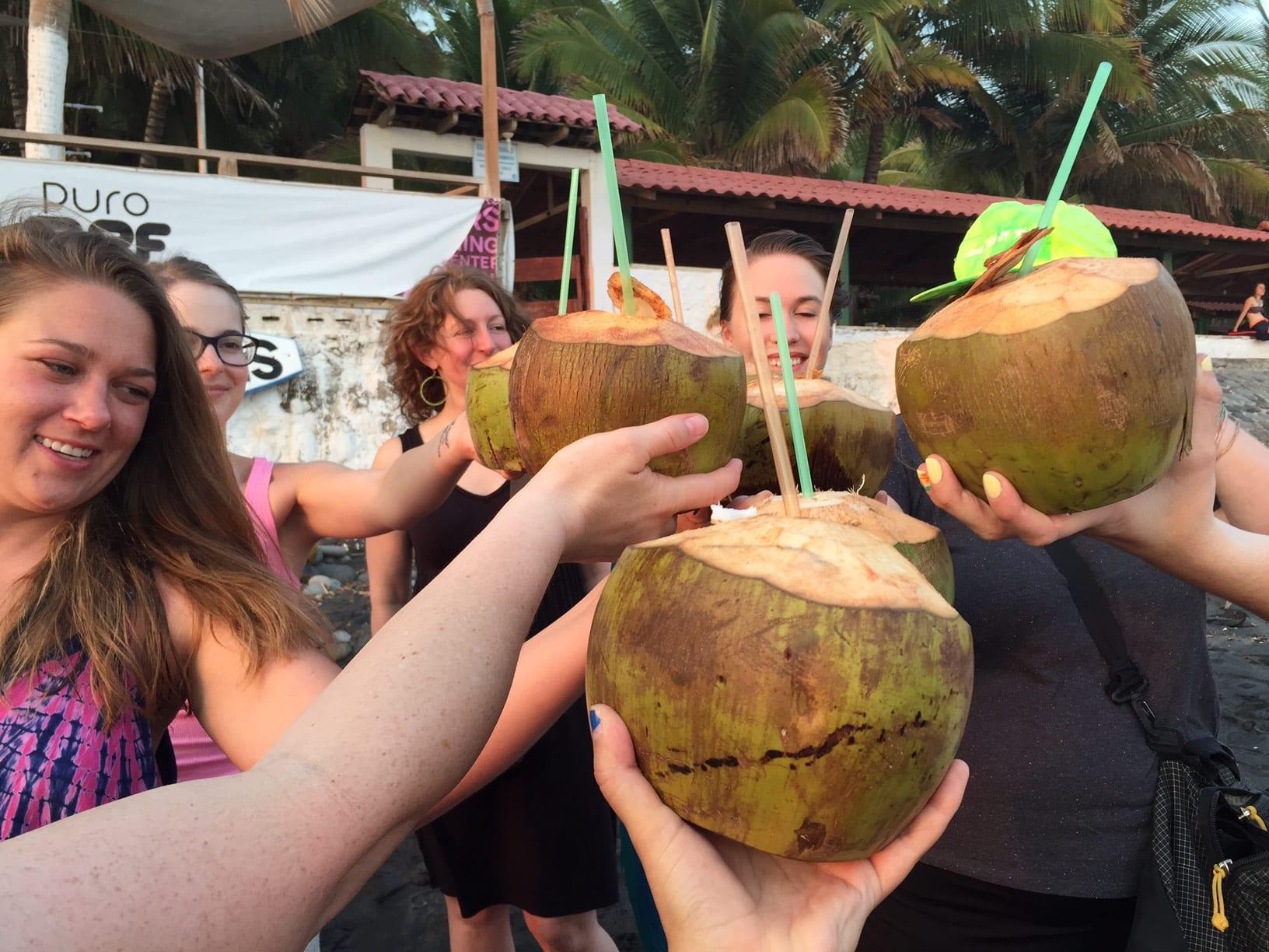 Coconuts in El Tunco