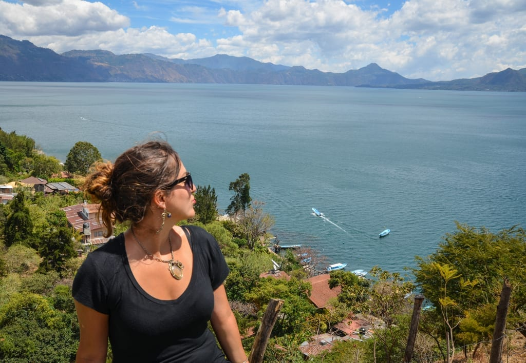 Kate at Lake Atitlan Guatemala