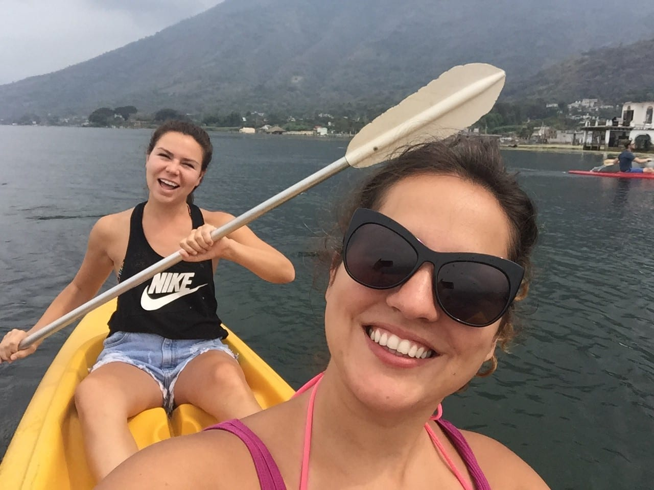 Kate and Wren Kayaking