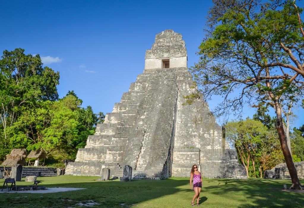 Kate at Tikal at Sunset