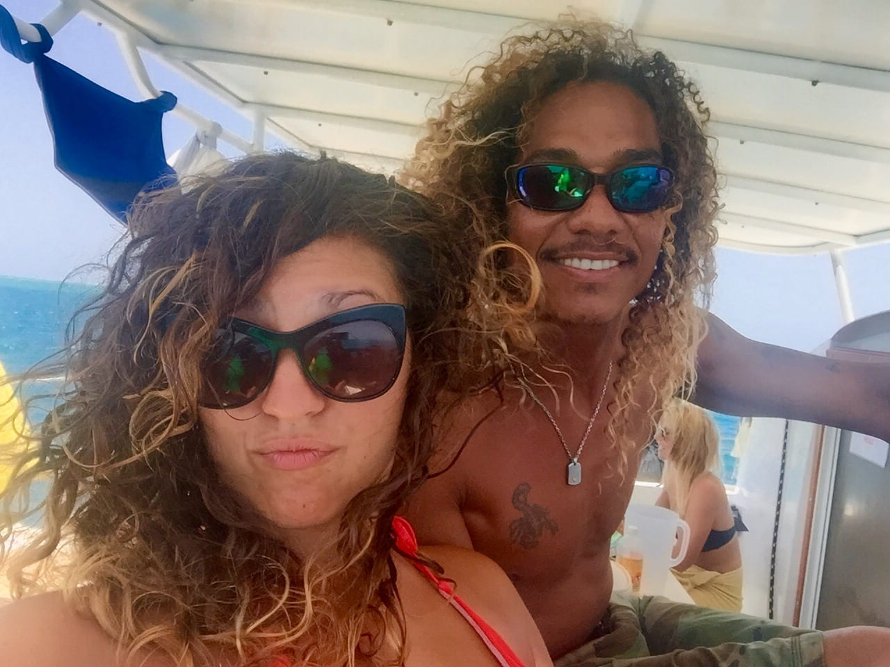 Kate and Kevin Sailing Belize