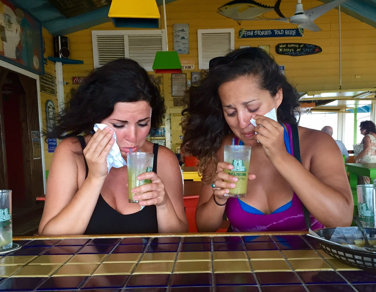 Erisa and Kate in Placencia