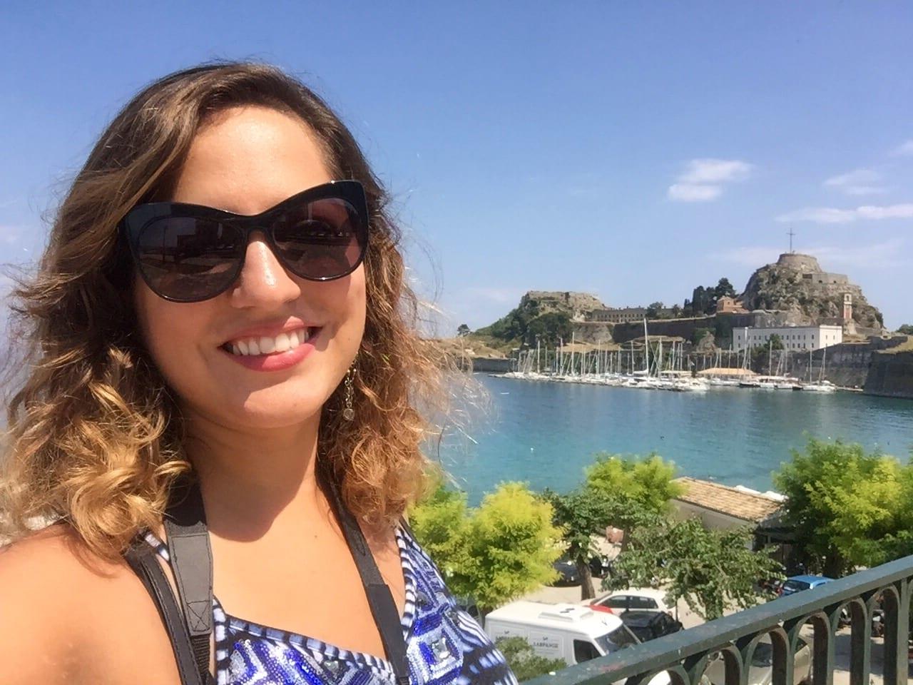 Kate in Corfu Greece