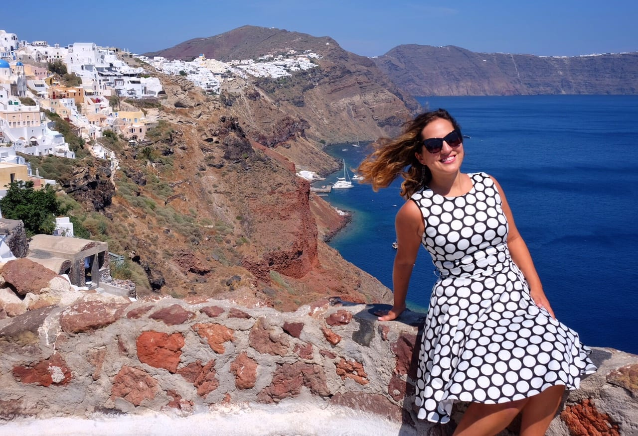 Kate in Santorini