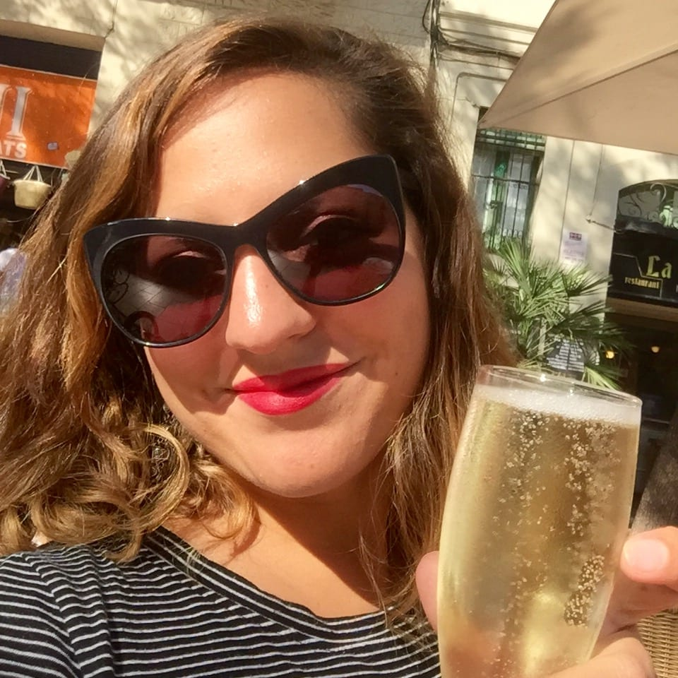 Kate with Cava in Barcelona