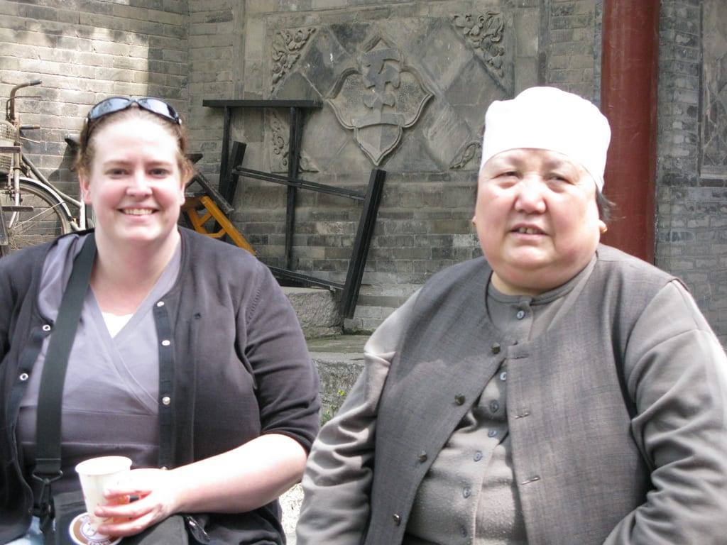 Pam at Great Mosque, Xian, China