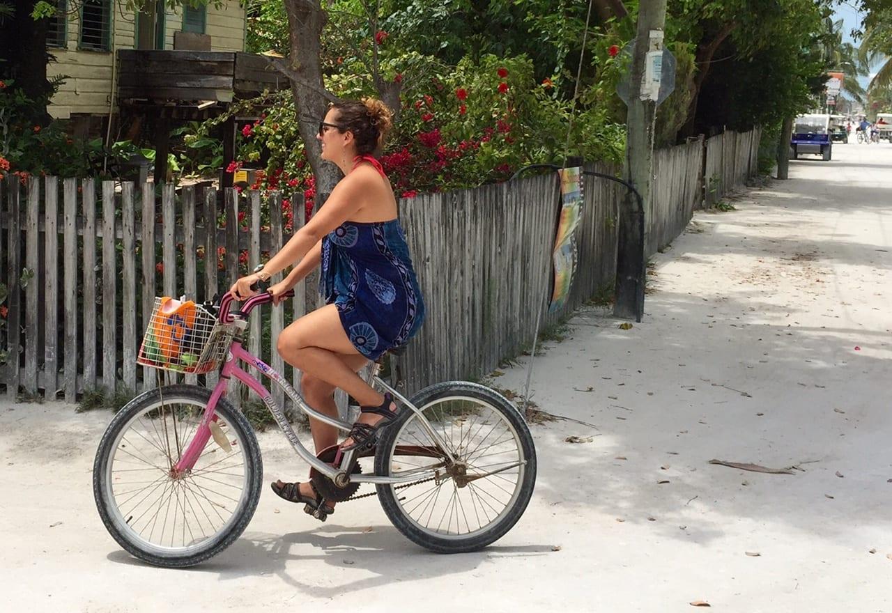 Bike Riding In Caye Caulker, Belize.