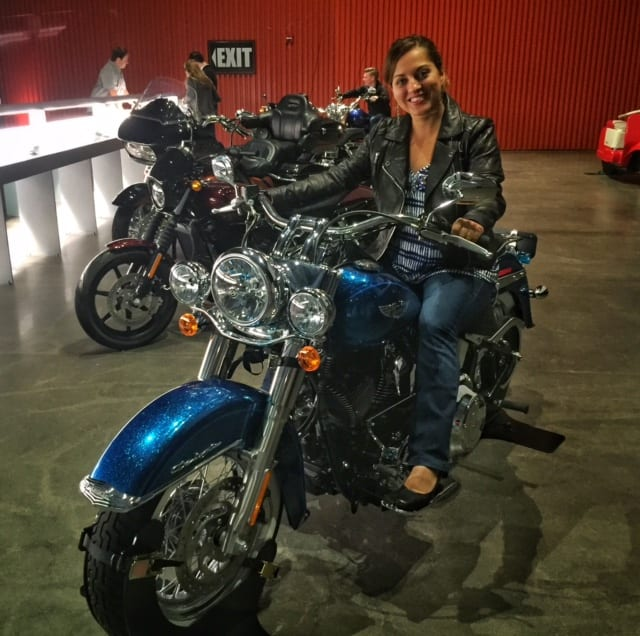 Kate at the Harley-Davidson Museum