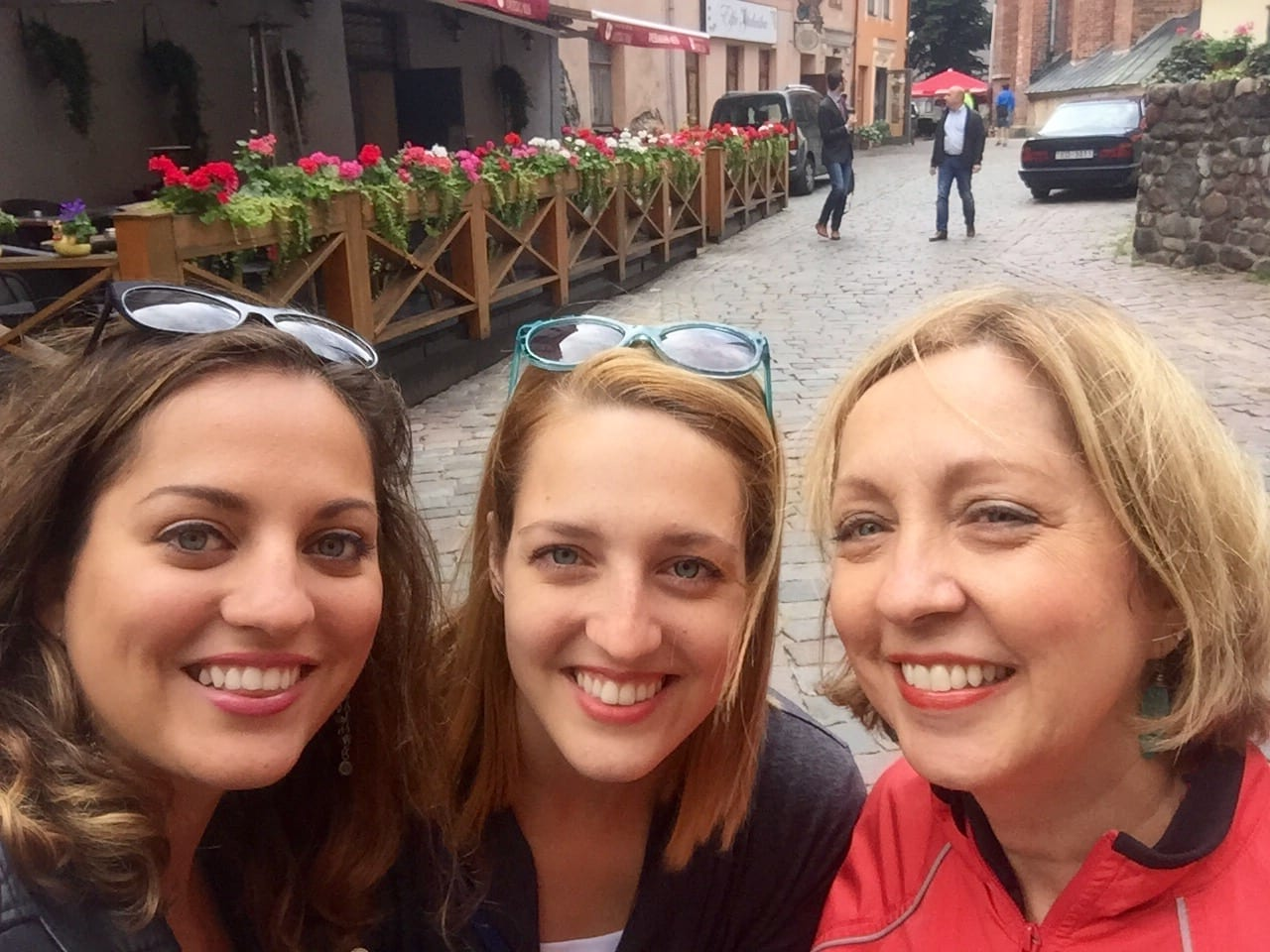 Kate, Sarah and Mom in Riga