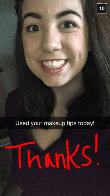 Kate on Snapchat