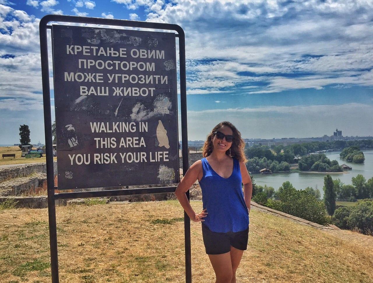 Kate in Belgrade