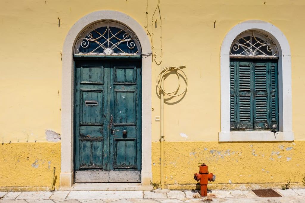 Door in Corfu, Greece
