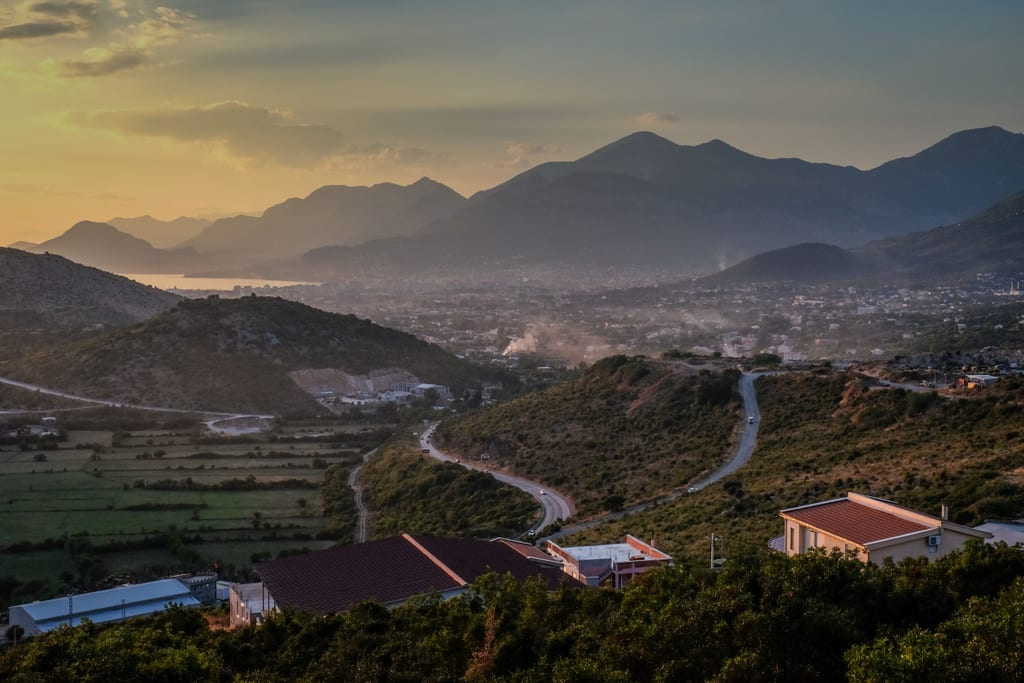 Sunset over Montenegro