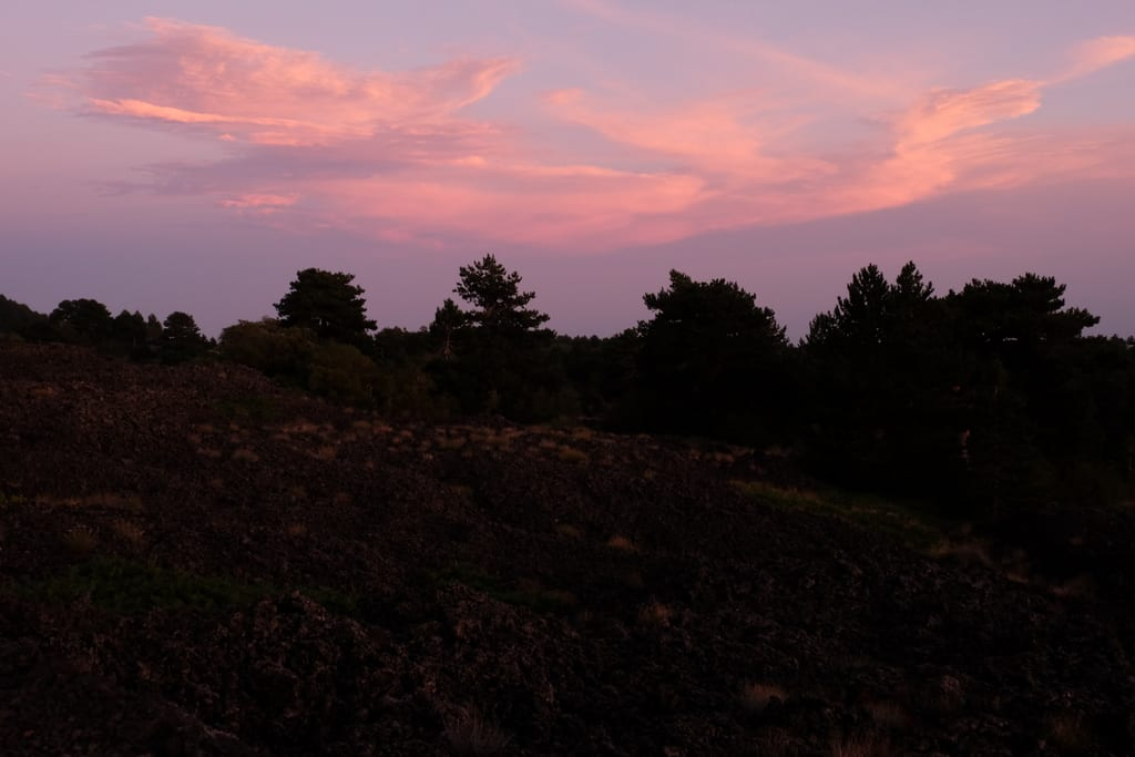Mount Etna Sunset -- Before