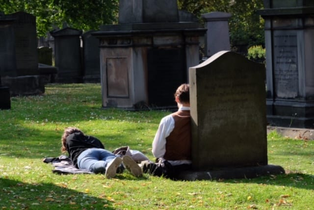 Relaxing in Edinburgh