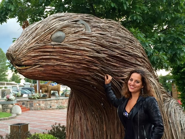 Kate with a Beaver, Riga