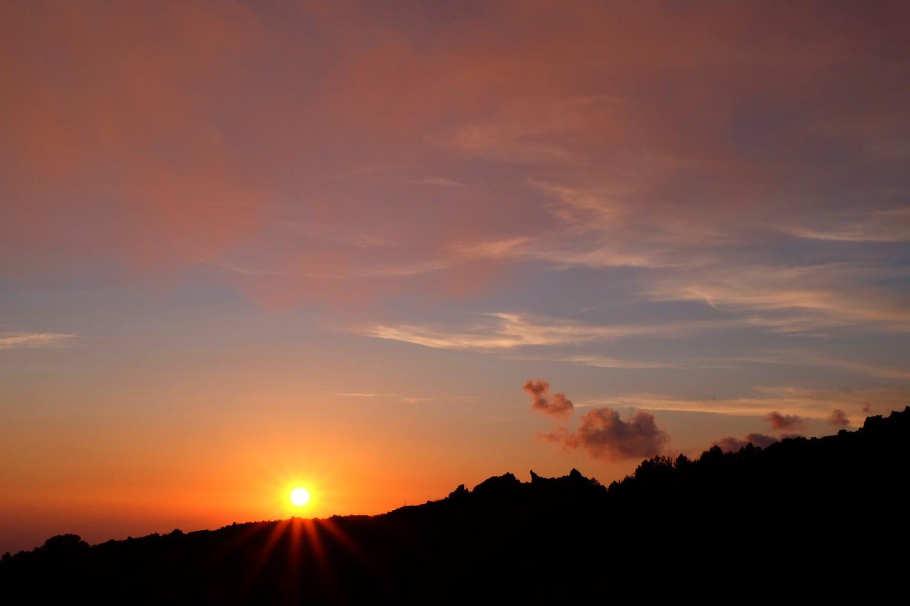 Mount Etna Sunset
