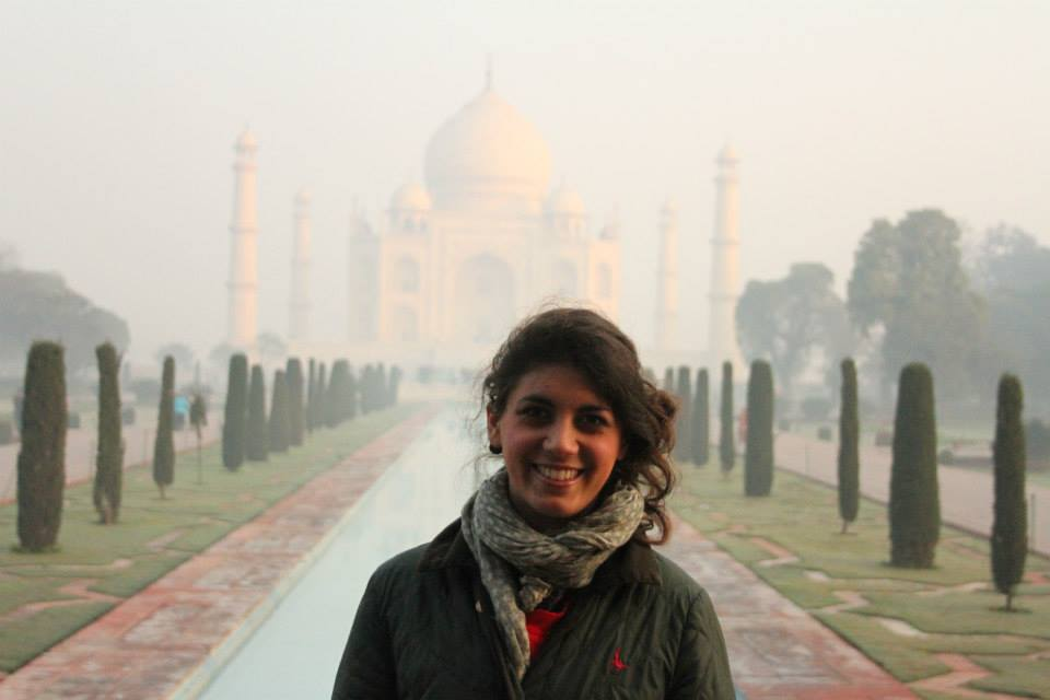 Dilara at the Taj Mahal
