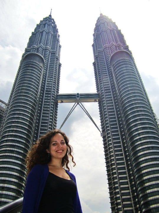 Kate at Petronas Towers Kuala Lumpur