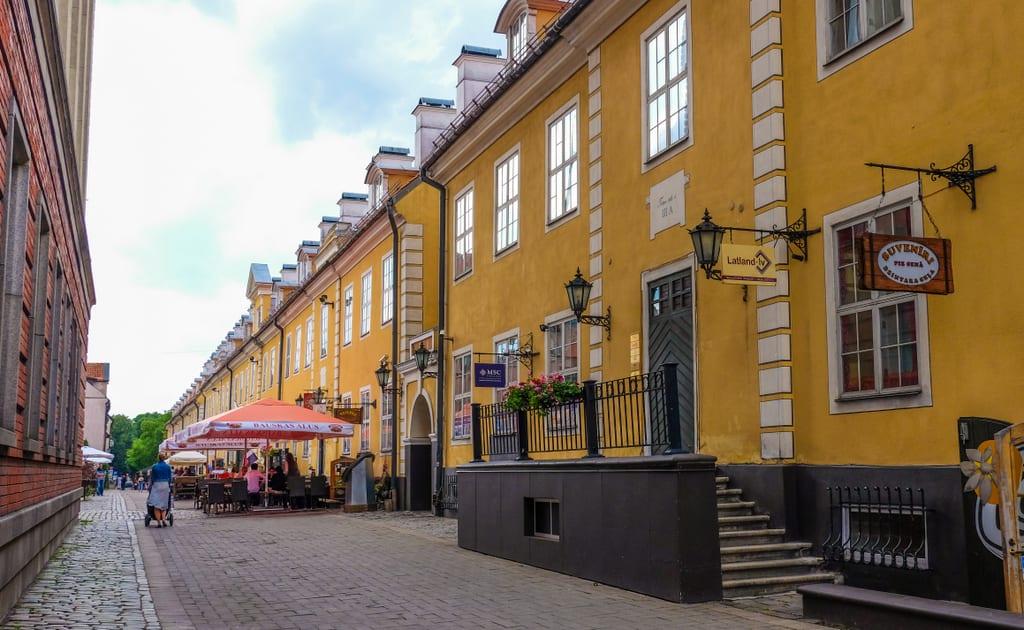 Yellow building Riga