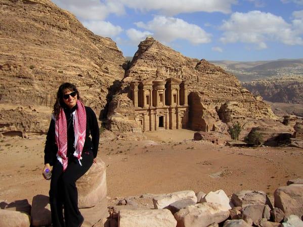 Kate at Jordan's Monastery
