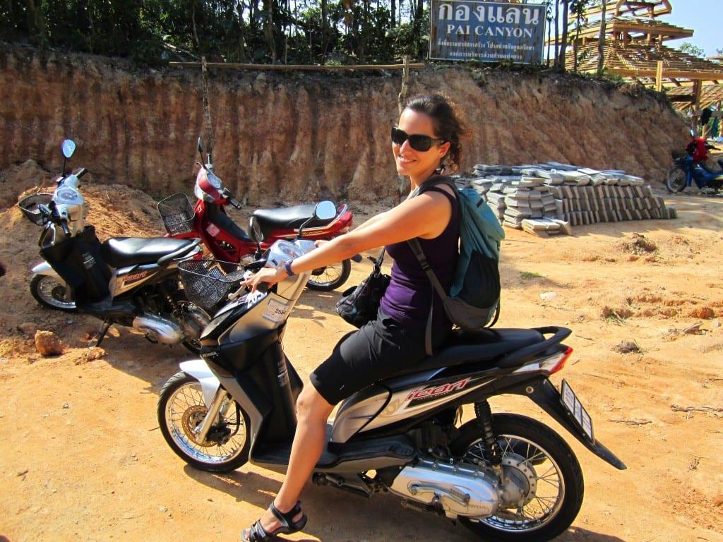 Kate Motorbike in Pai