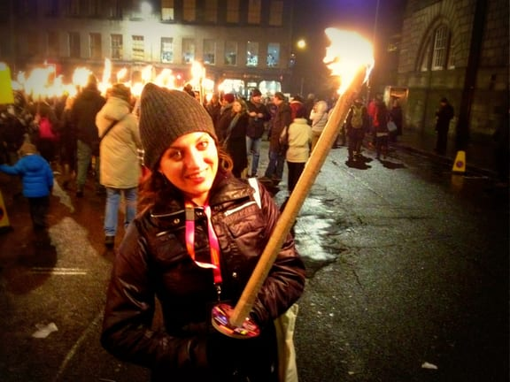 Kate Torchlight Procession Hogmanay Edinburgh