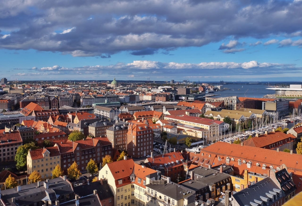 Copenhagen from Church of Our Savior