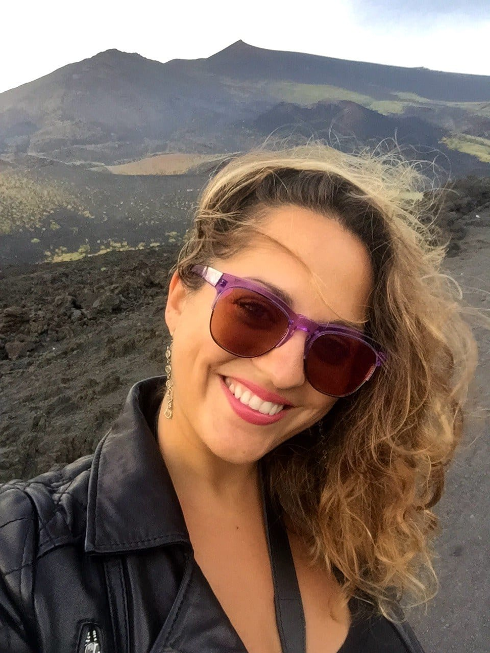 Kate on Mount Etna