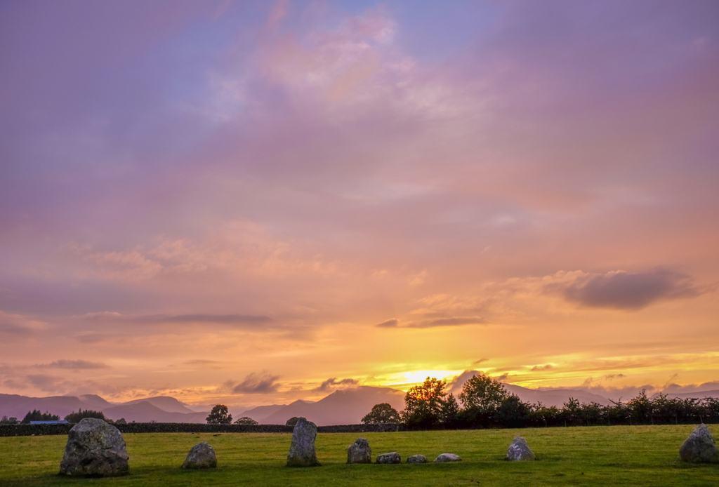 Castlerigg Lake District Sunset