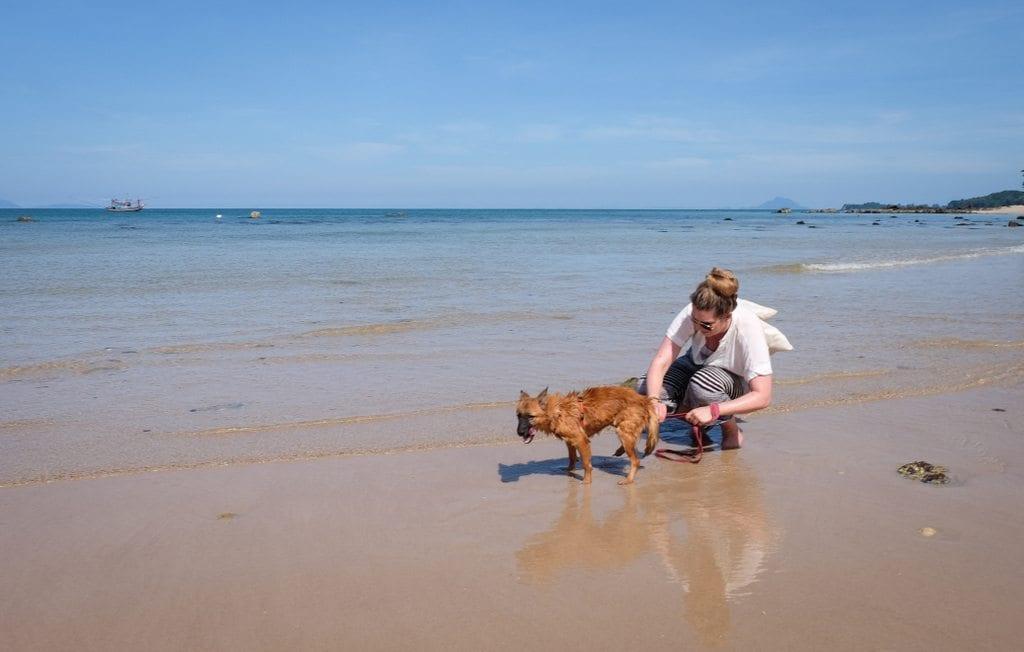 Brenna and Dog Koh Lanta