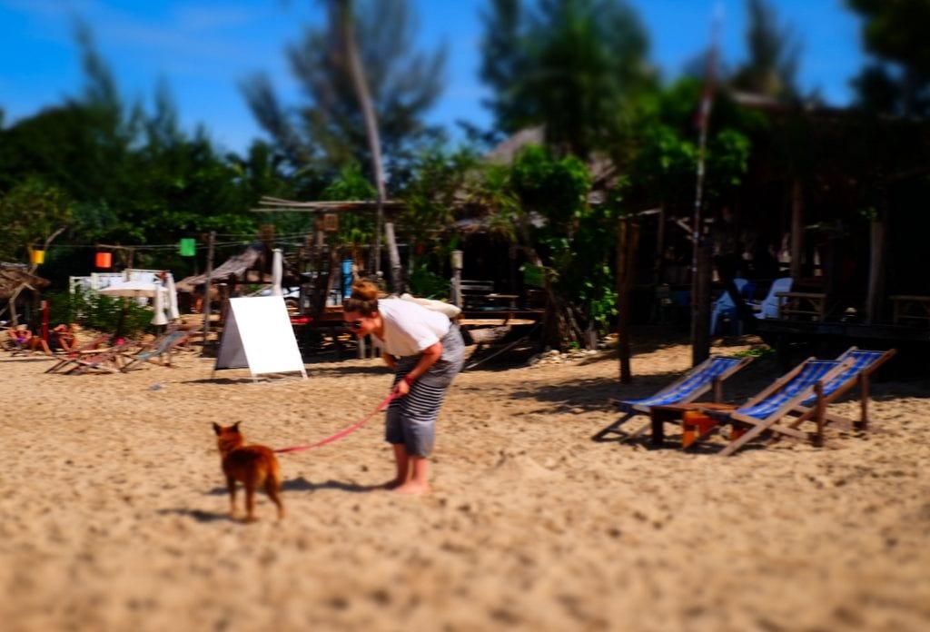 Brenna and Puppy Koh Lanta