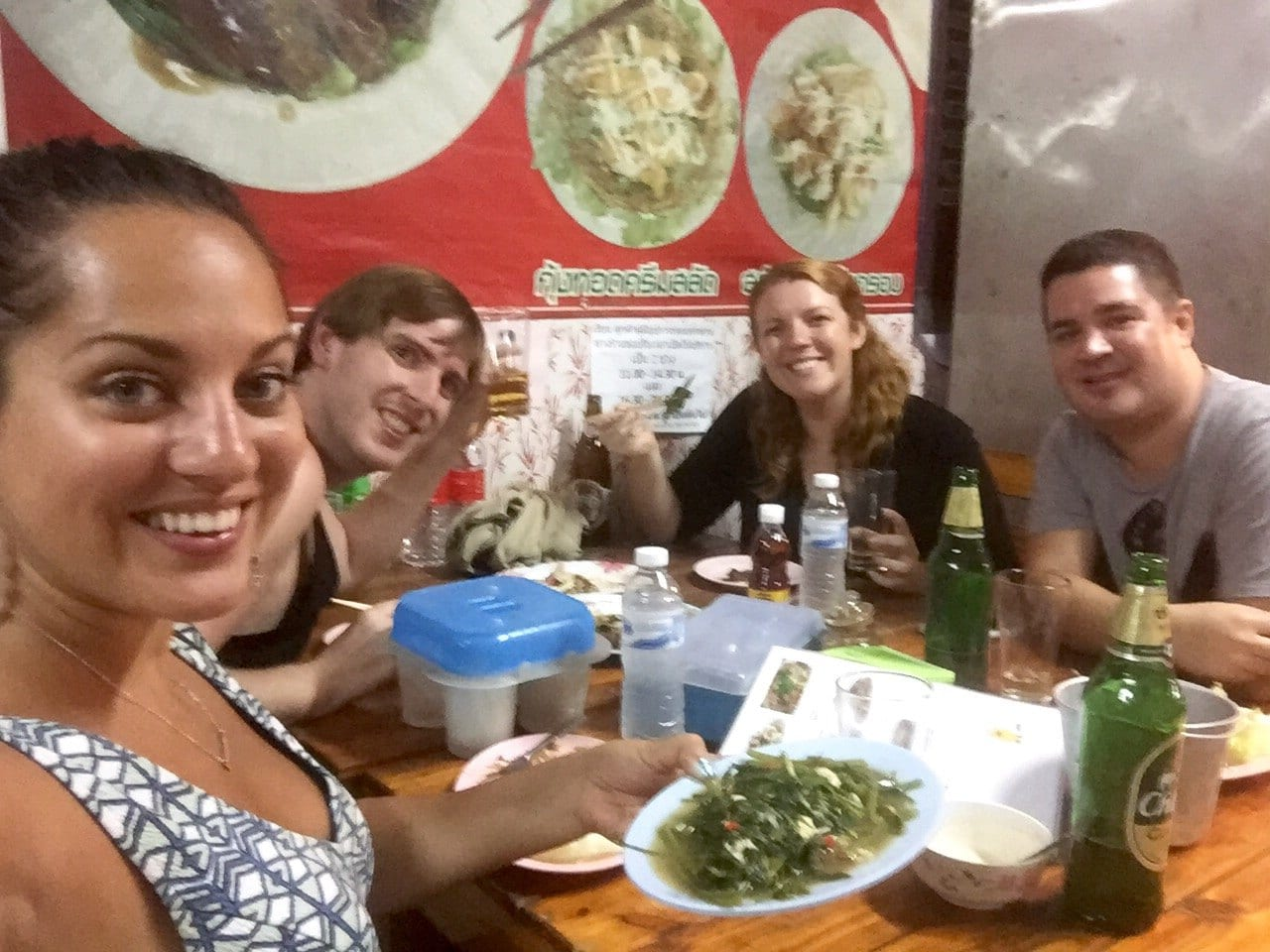 Kate, Tom, Meg and Nathan in Chiang Mai