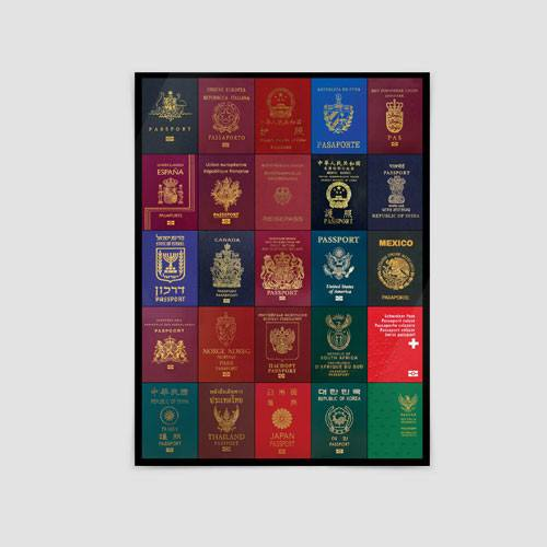 Airportag Passports Poster