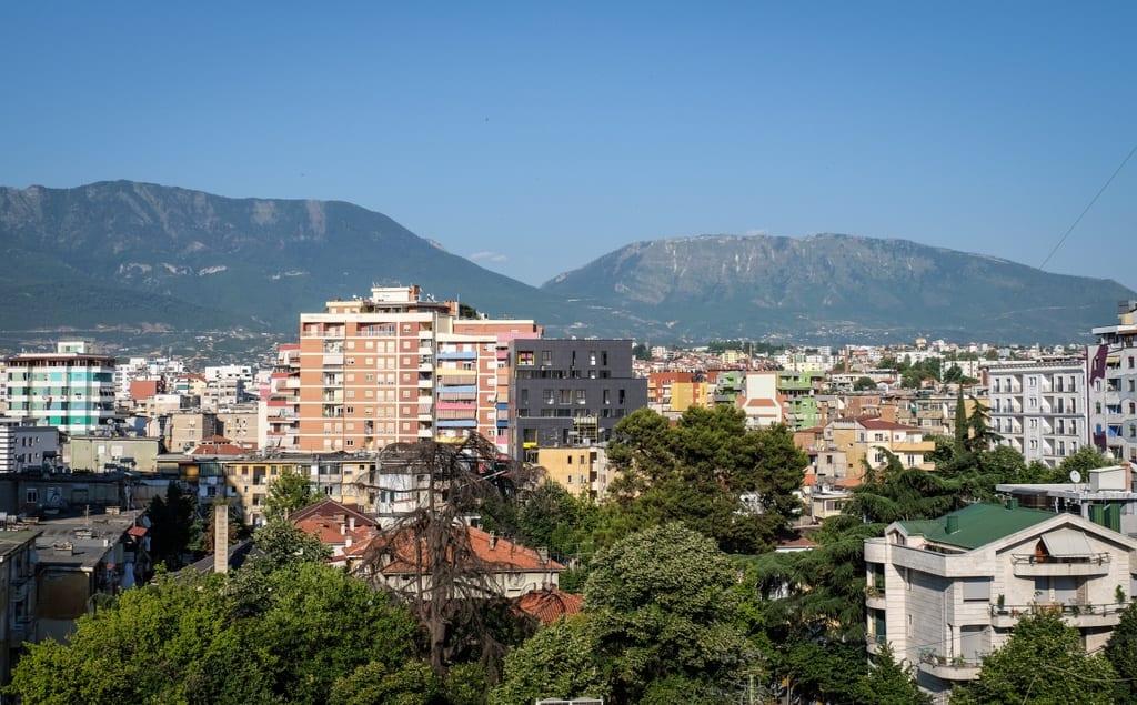 View from the Pyramid Tirana Albania
