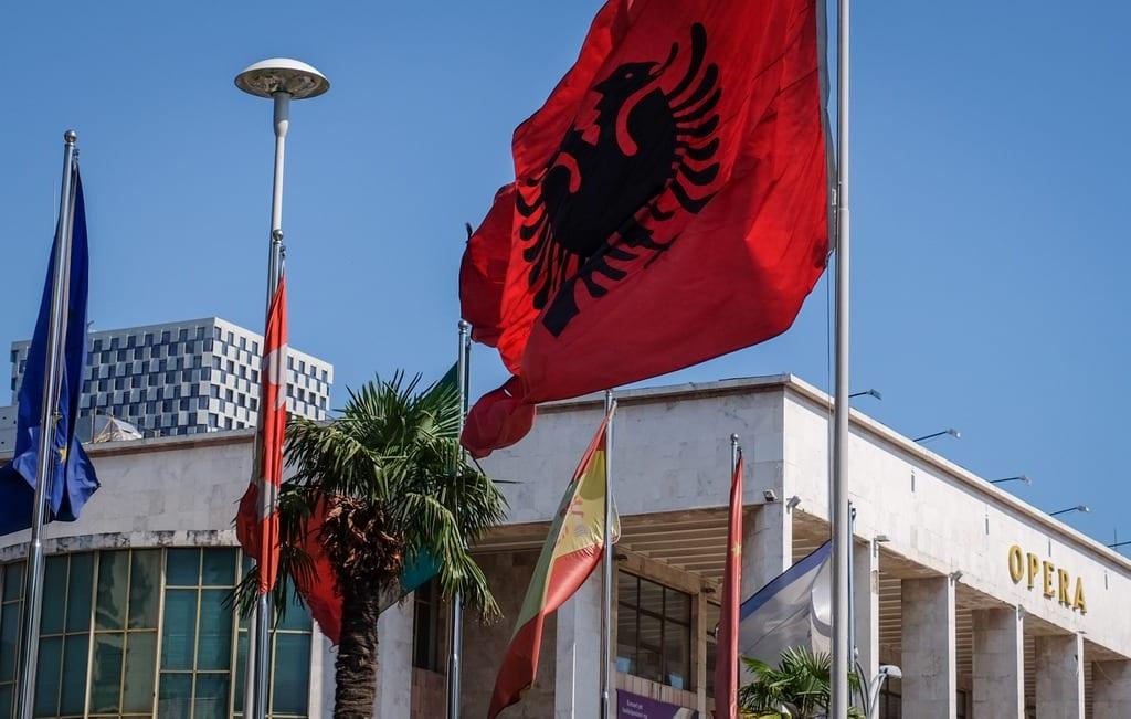 Tirana Opera House Flag