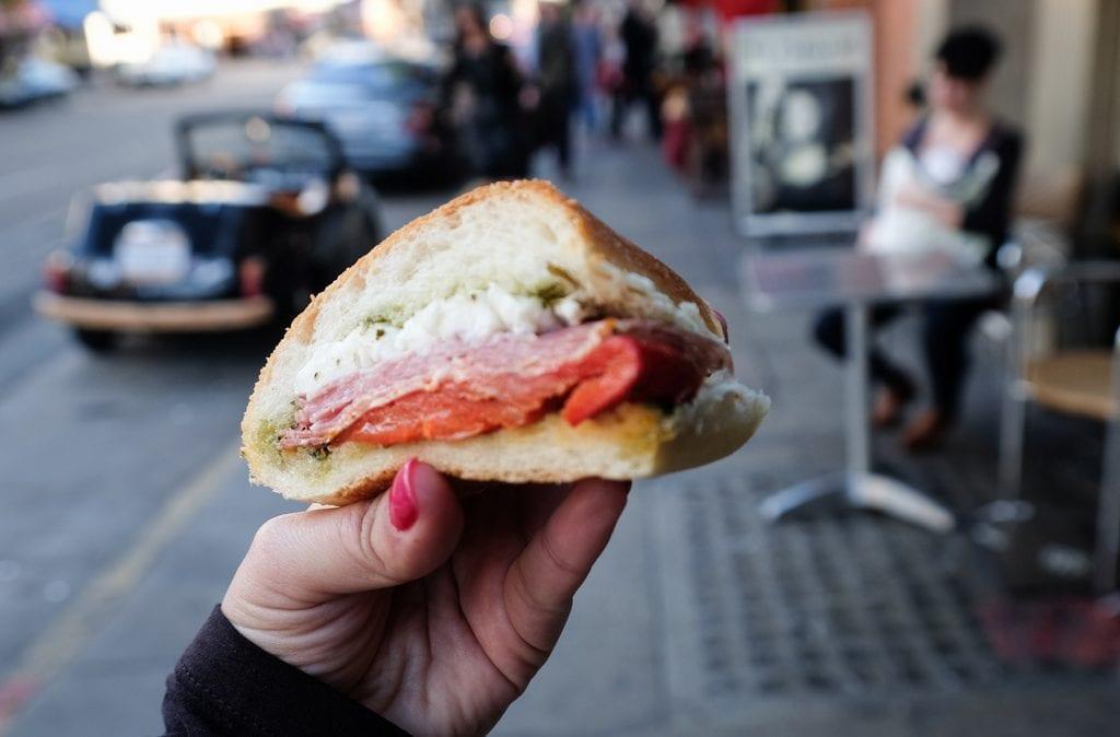 Sandwich at Molinari