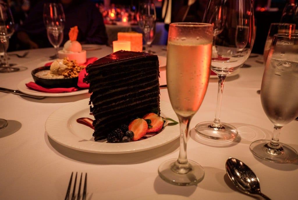 Chocolate Cake and Champagne, El Conquistador, Puerto Rico