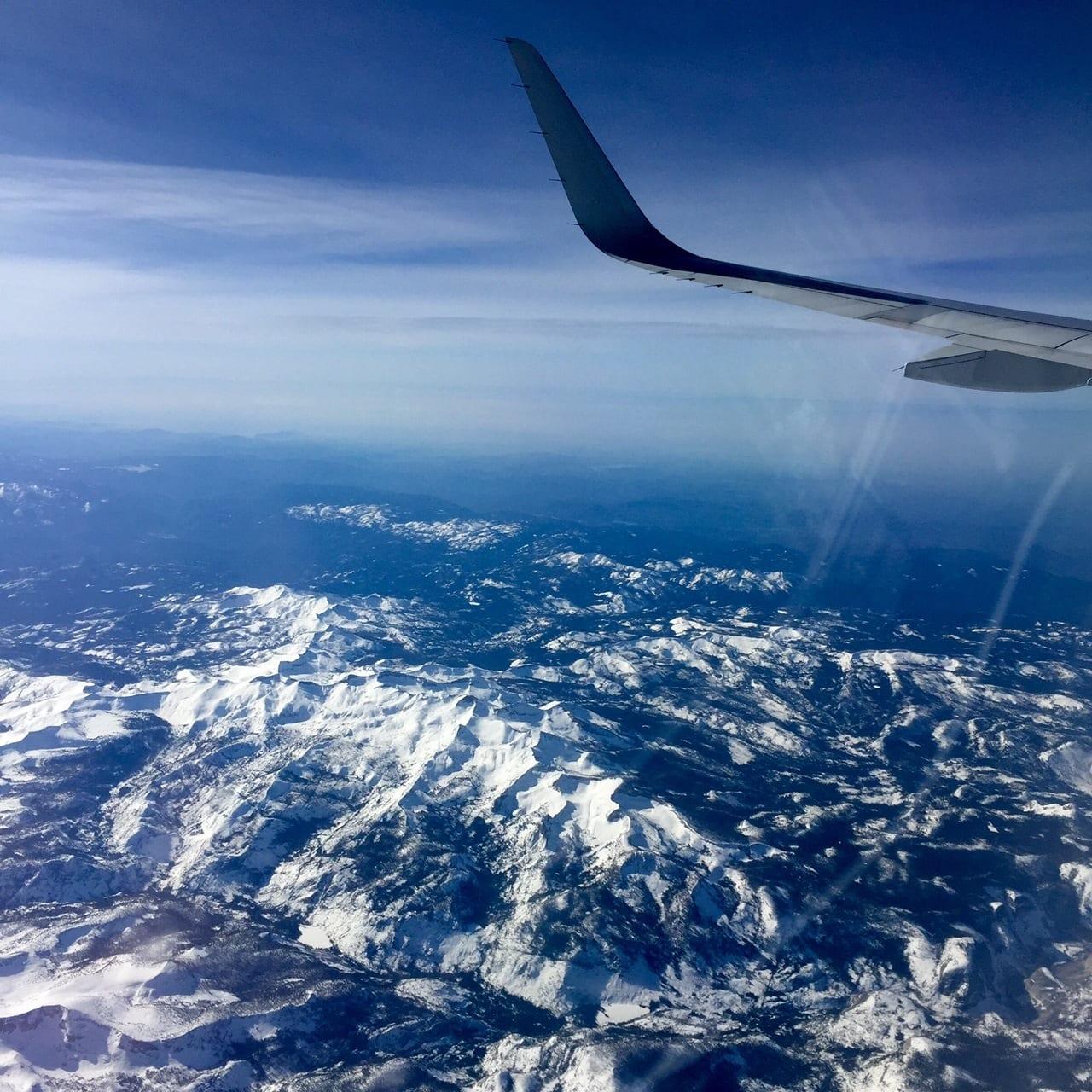 Flying over Yosemite