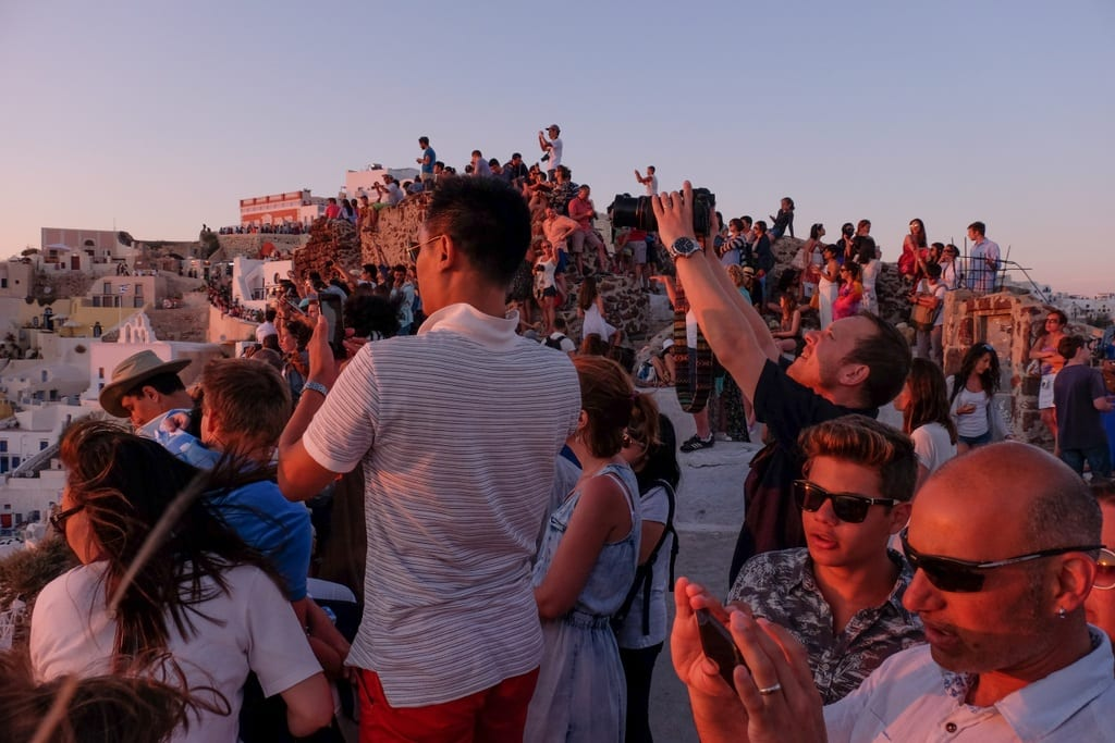 Santorini Sunset People