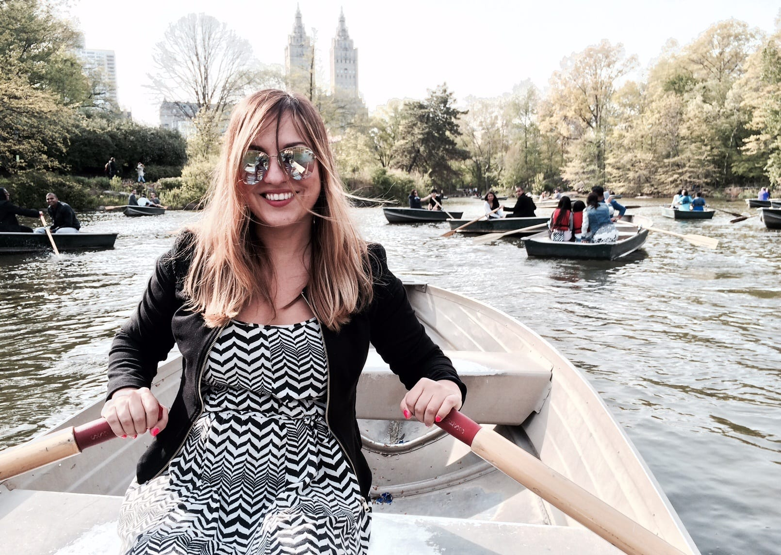 Kate Boating in Central Park