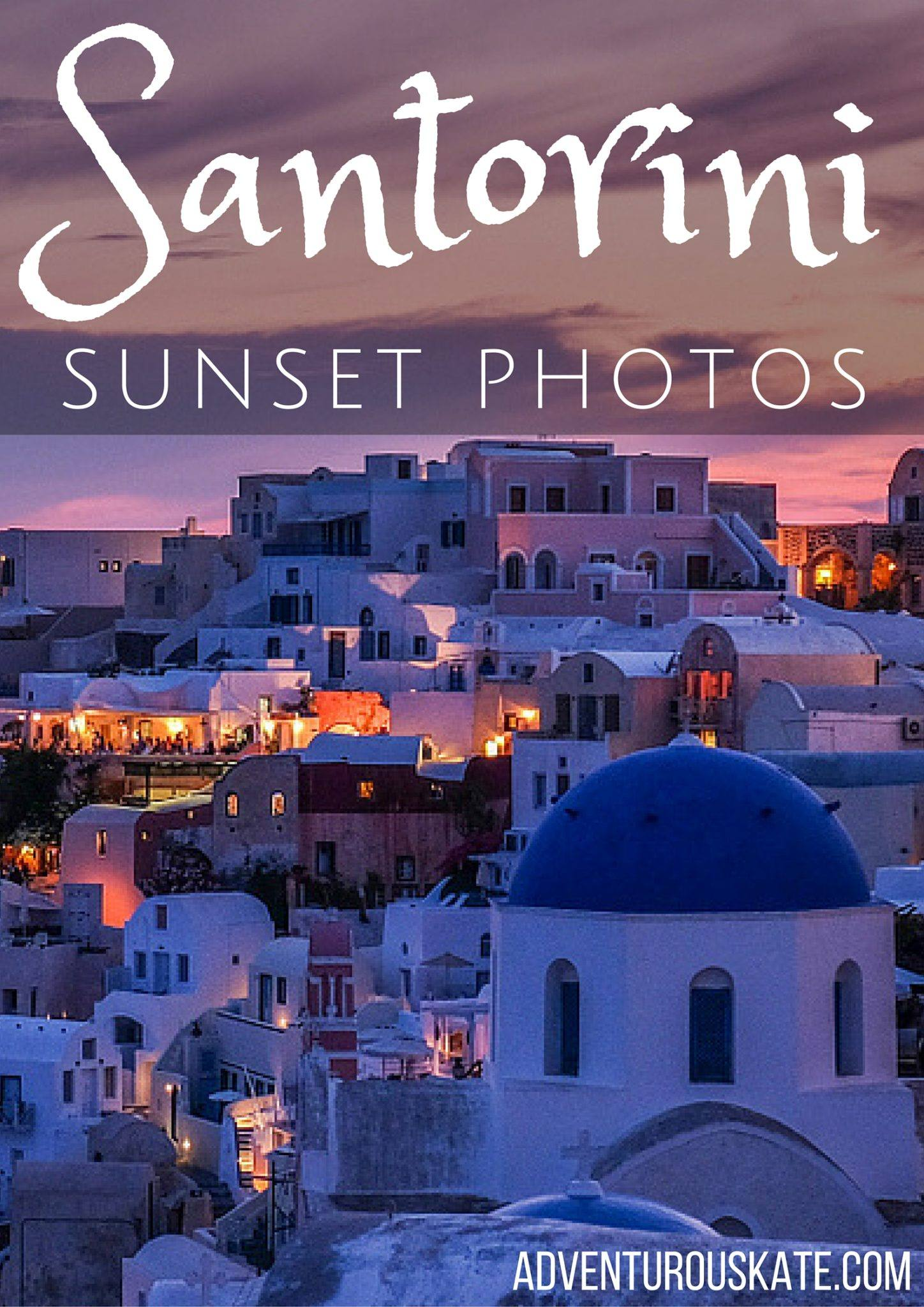 Santorini Sunset Photos