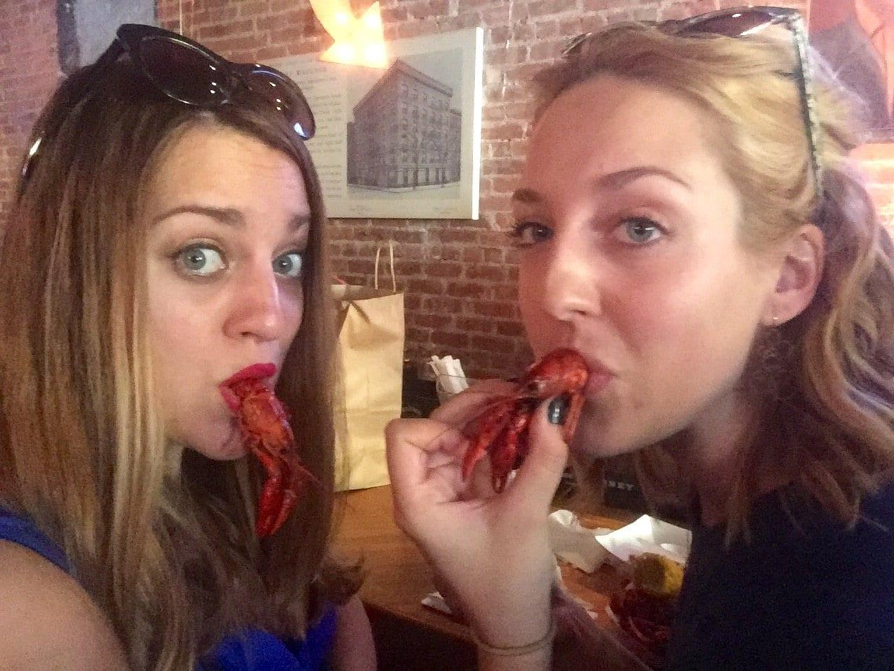 Kate and Sarah, Crawfish Festival