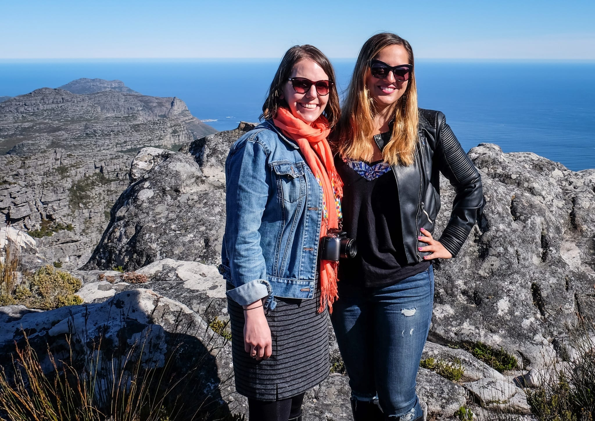 Beth and Kate on Table Mountain