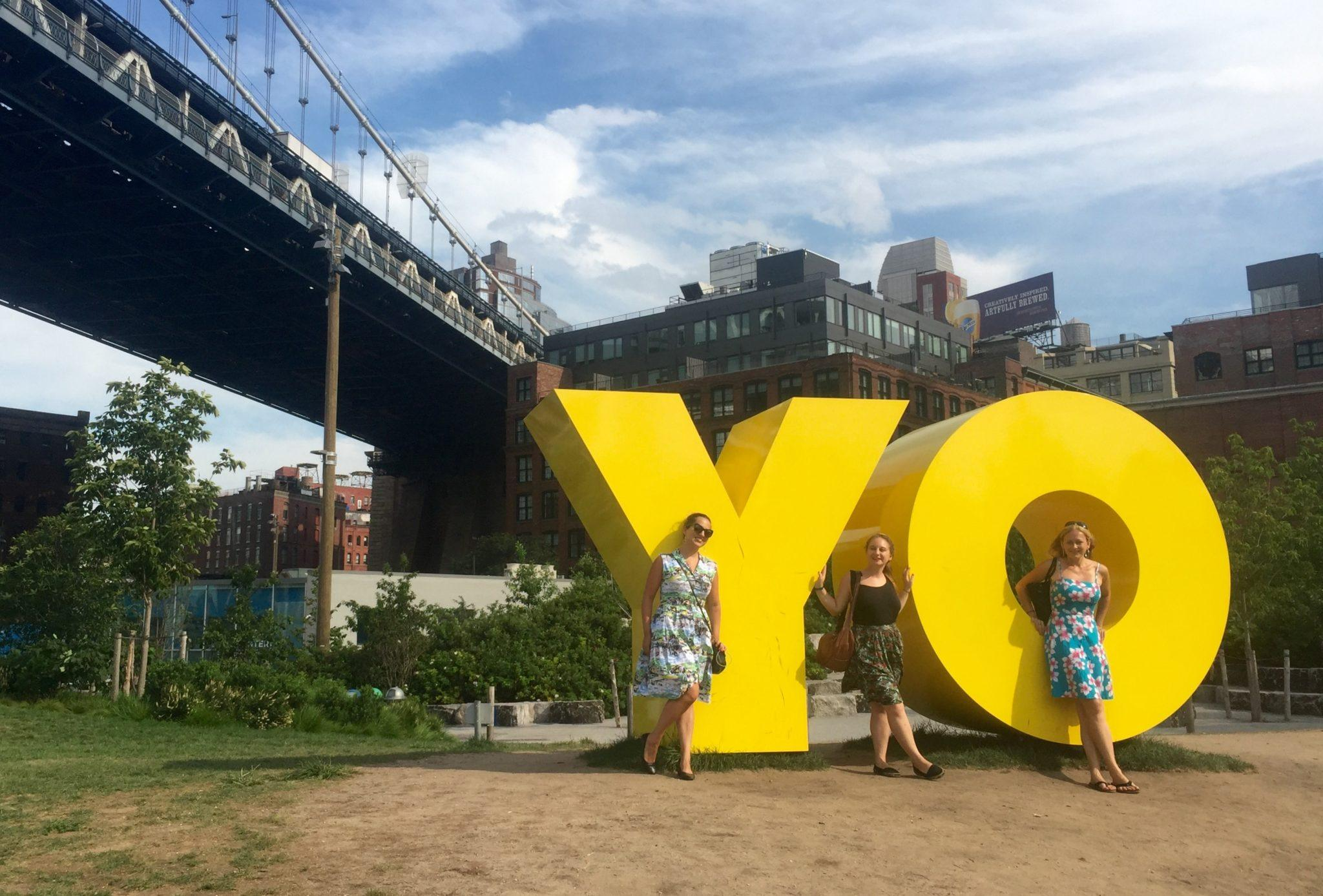 YO in Brooklyn Bridge Park