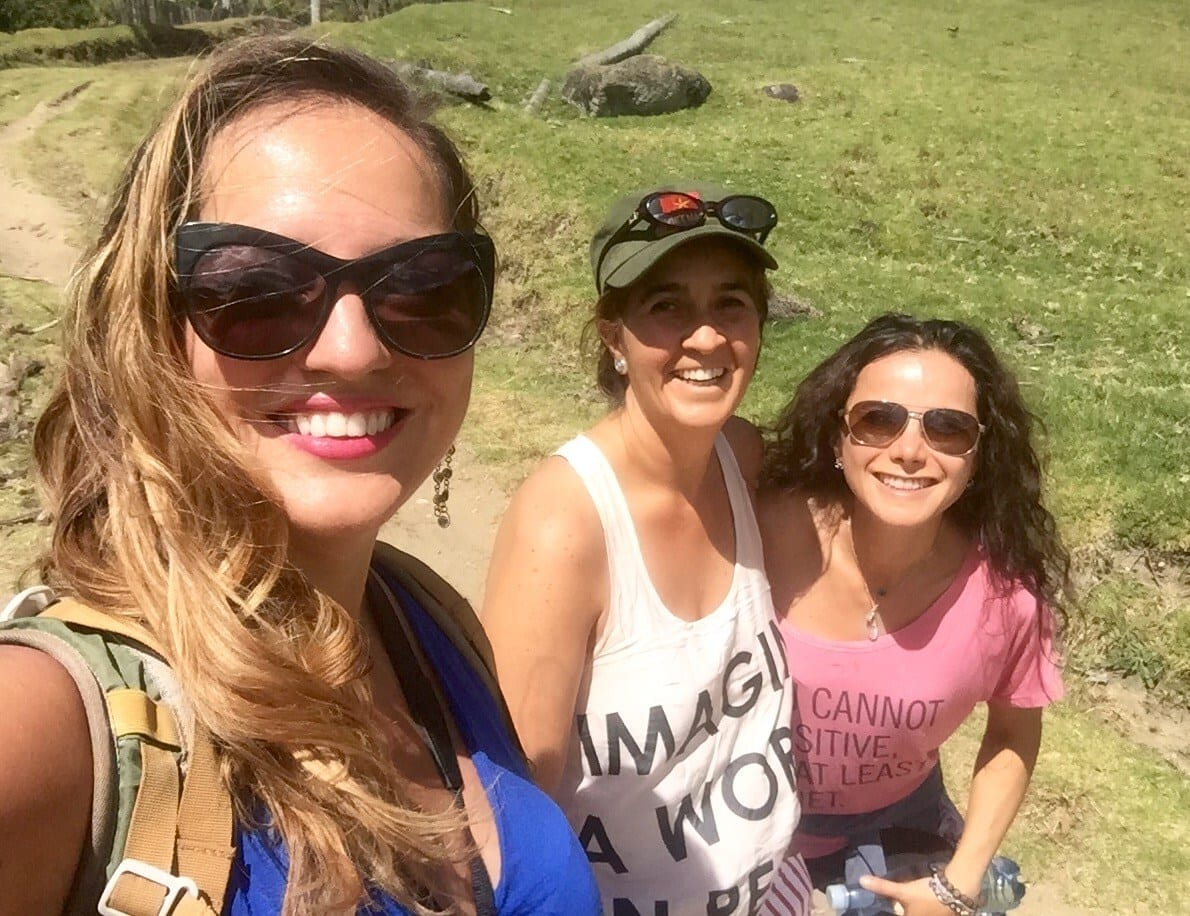 Kate, Adriana and Joanna in the Valle del Cocora