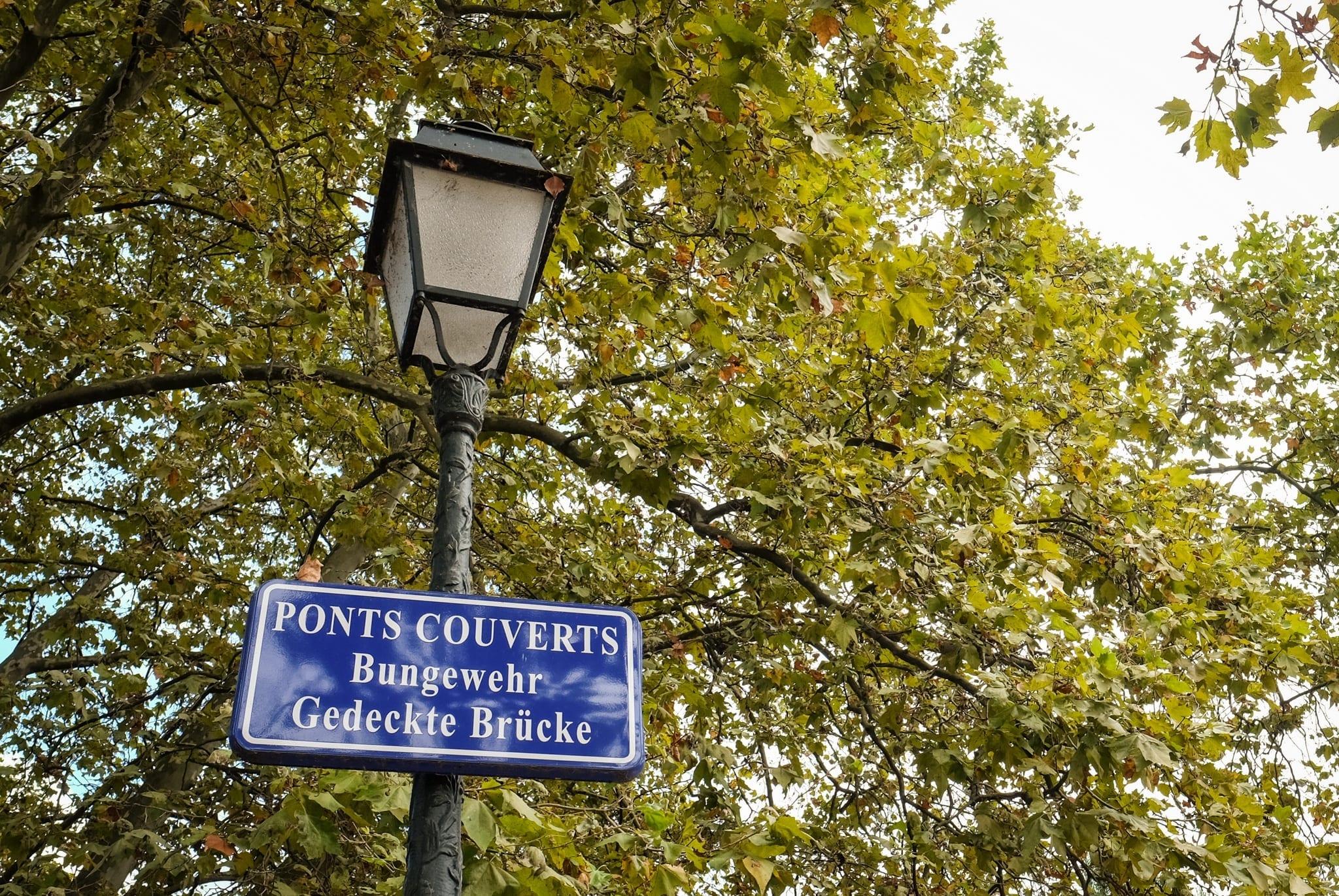 Strasbourg Street Sign
