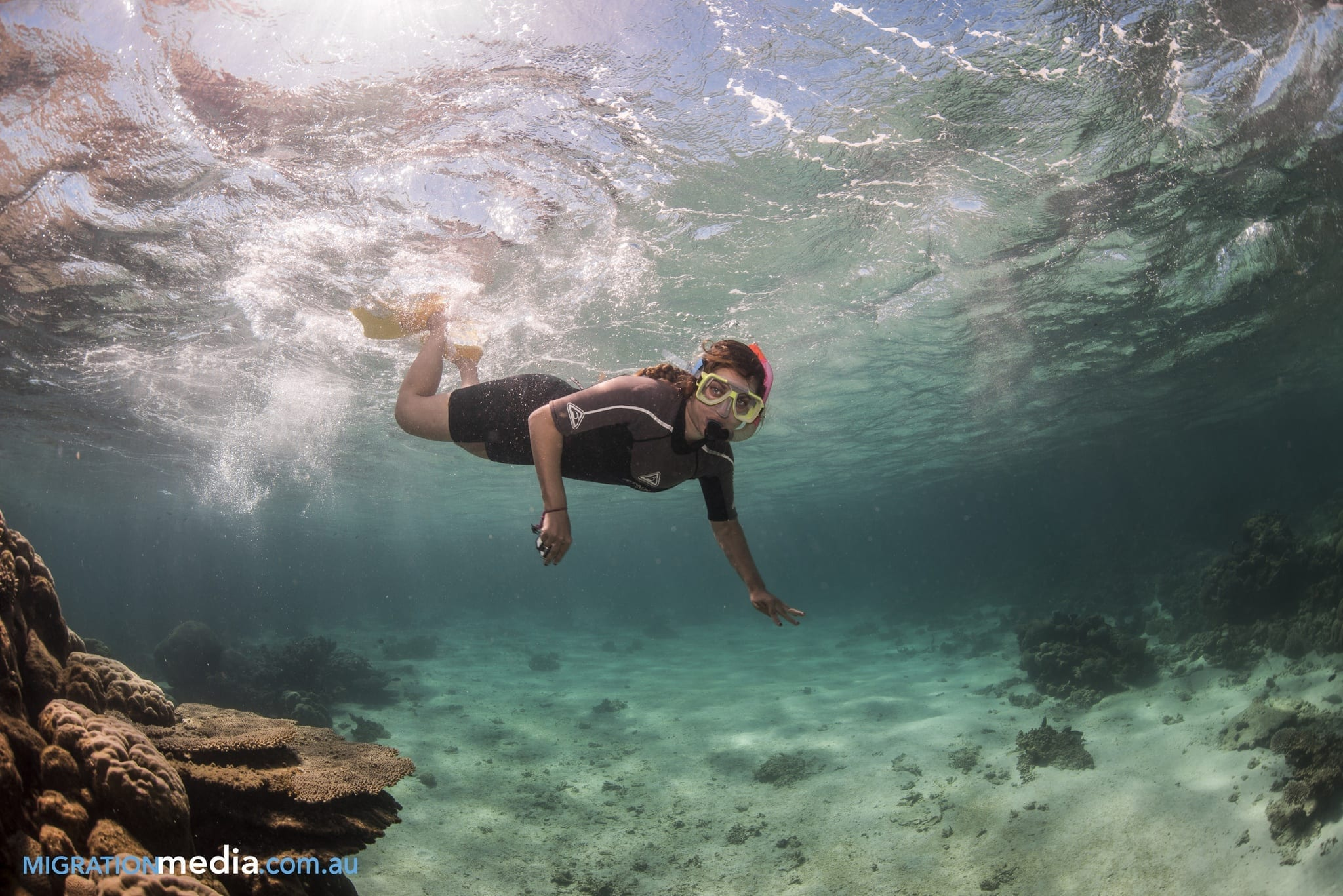 Kate at Ningaloo Reef