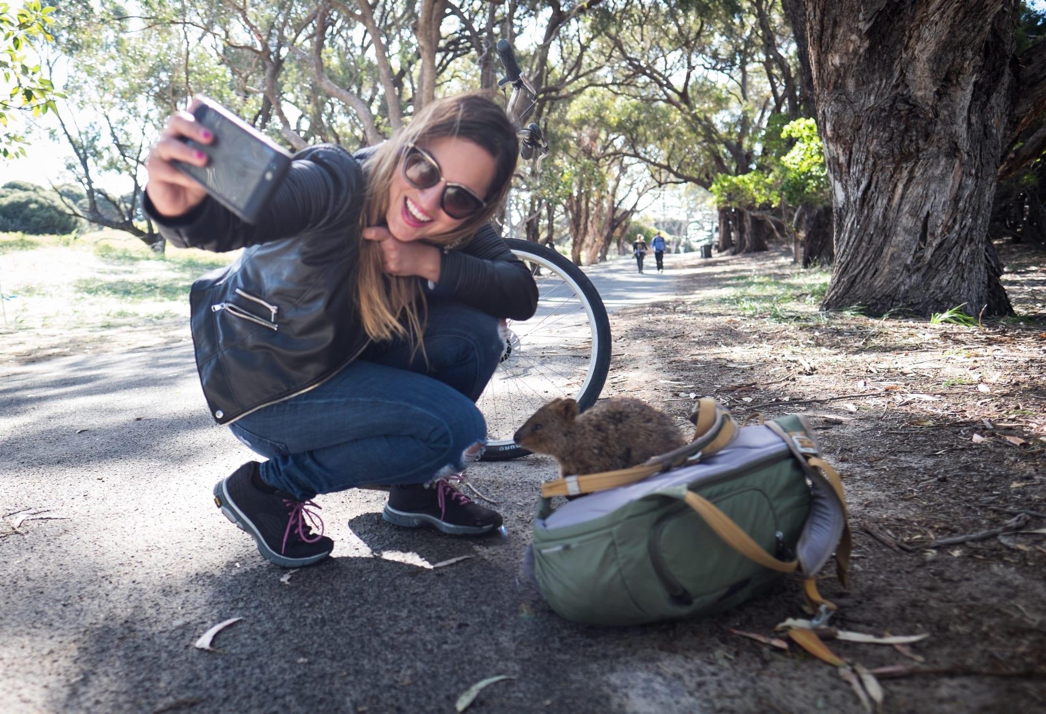 Kate Quokka Selfie