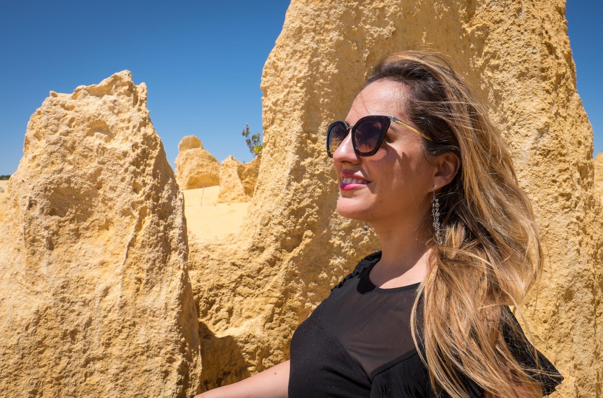 Kate at Pinnacles Desert